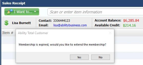 Ability Membership Expired